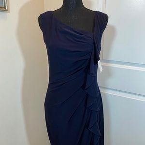 Suzi Chin Sleeveless Ruffled Ruched Dress
